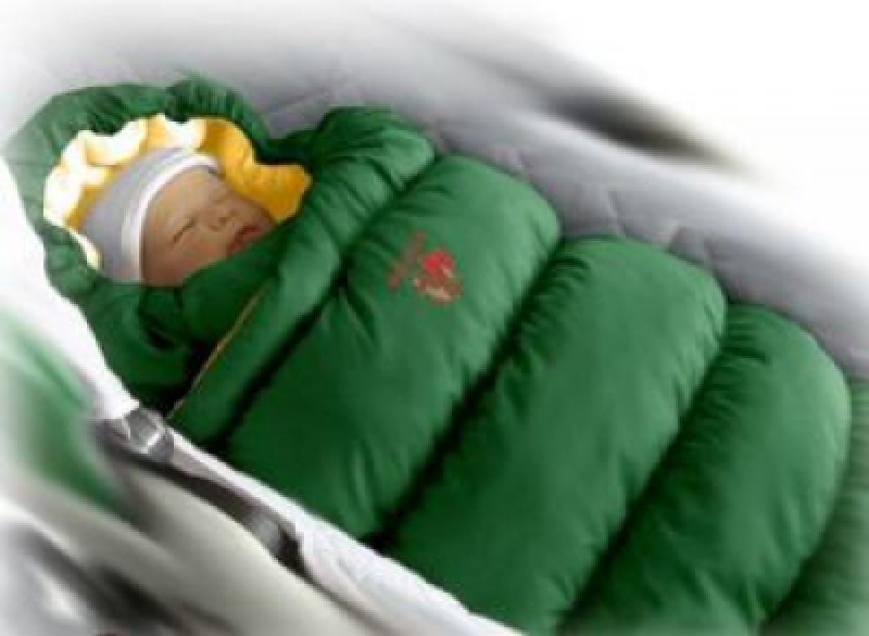 Конверт-пуховик Ontario Baby Inflated (дутик 50х90) зеленый
