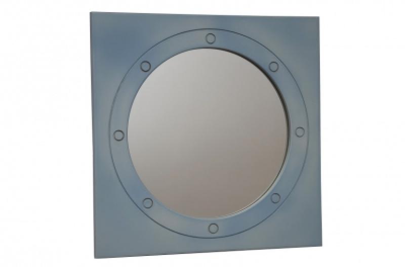 Зеркало, илюминатор, голубая лазурь, резьба