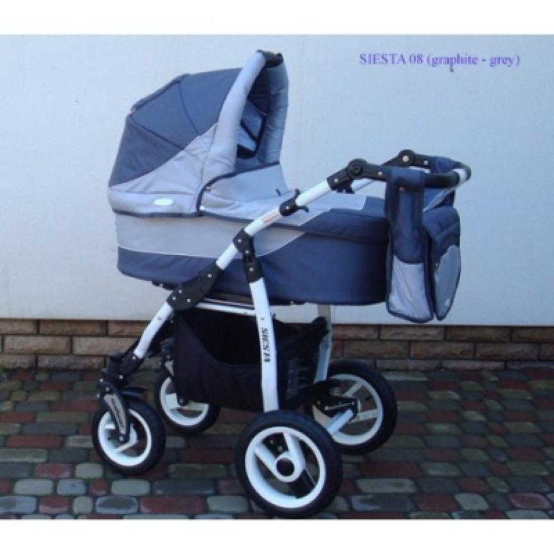 Коляска 2в1 ADBOR SIESTA 08 (graphite - grey)