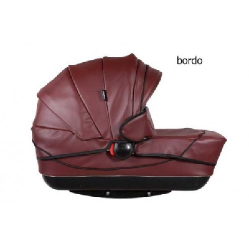 Коляска 2в1 Kajtex Tramonto bordo (эко-кожа) без дожд-ка
