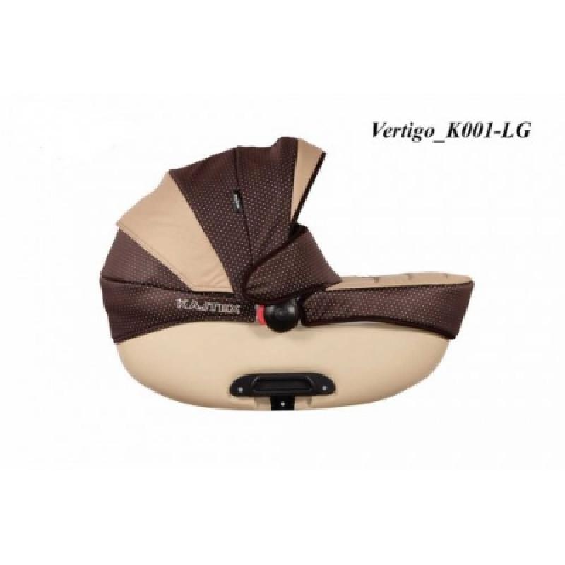 Коляска 2в1 Kajtex Vertigo 360 K001-LG (бежевая люлька)