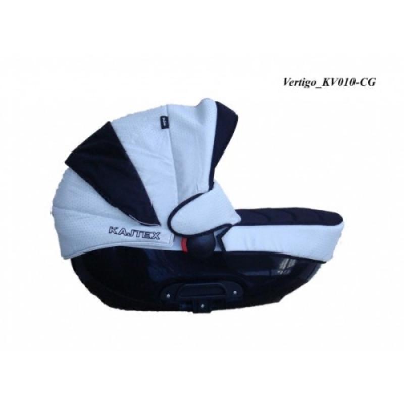 Коляска 2в1 Kajtex Vertigo 360 KV010-CG (черная люлька)
