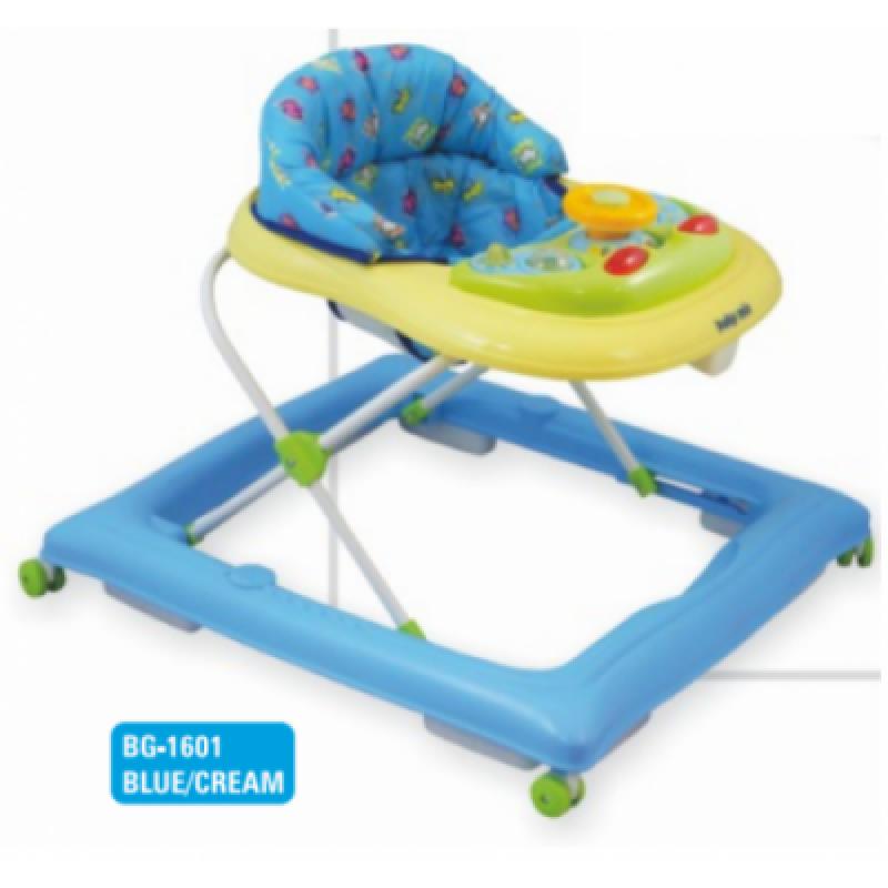 Ходунки Alexis-Babymix BG-1601 blue-cream