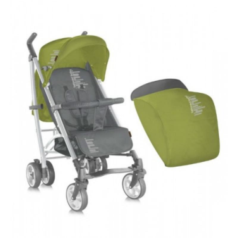 Коляска Bertoni S-200 ЧЕХОЛ (green&grey belowed baby)