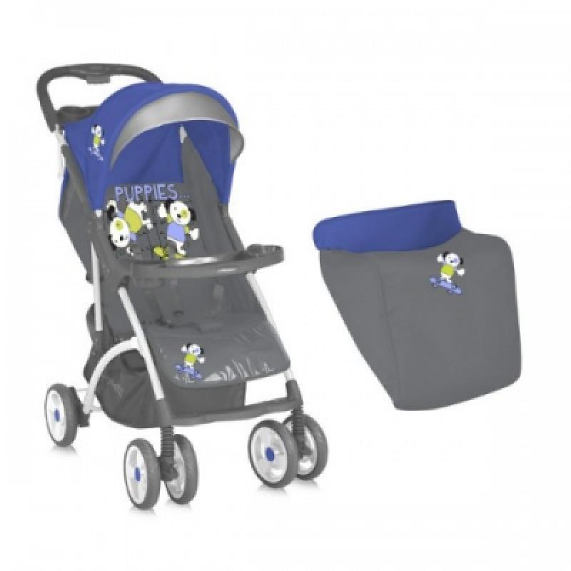 Коляска Bertoni SMARTY ЧЕХОЛ (blue grey puppies)