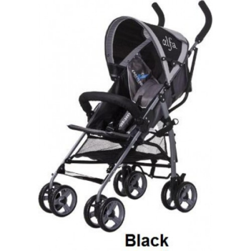 Коляска Caretero Alfa - black