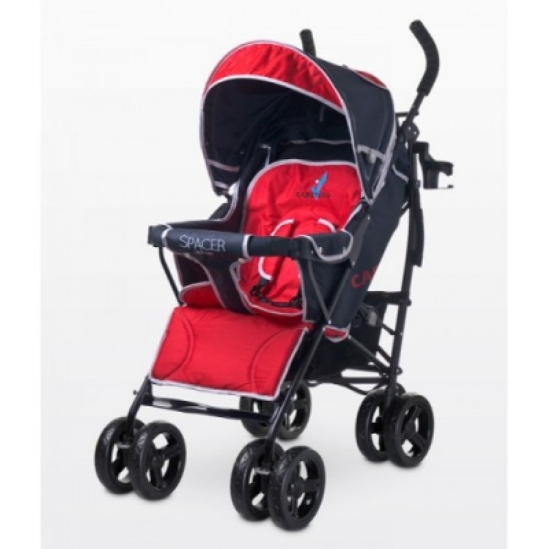 Коляска Caretero Spacer deluxe - red