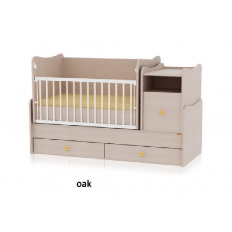 Кроватка-трансформер Bertoni TREND PLUS (oak)