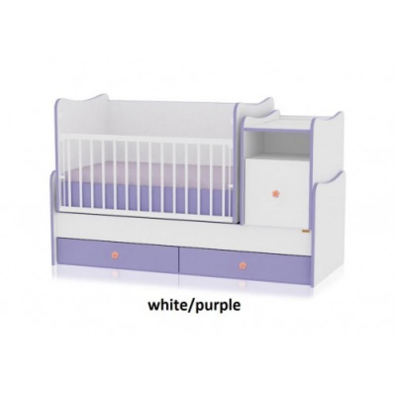 Кроватка-трансформер Bertoni TREND PLUS (white/violet)