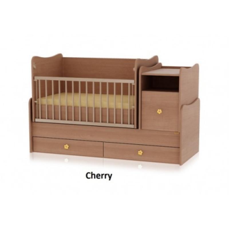 Кроватка-трансформер Bertoni TREND PLUS (cherry)