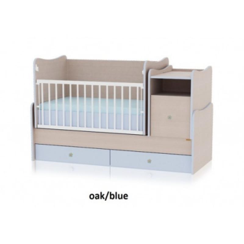 Кроватка-трансформер Bertoni TREND PLUS (oak/blue)