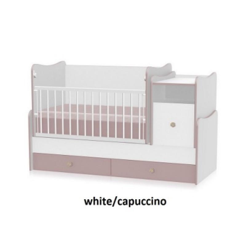 Кроватка-трансформер Bertoni TREND PLUS (white\capuccino)