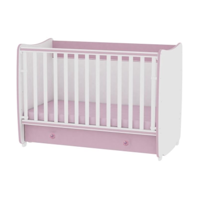 Кроватка Bertoni DREAM 120-60 с матрасом (white\pink)