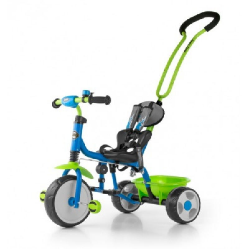 Велосипед 3х кол. M.Mally Boby 2015 с подножкой (blue-green)