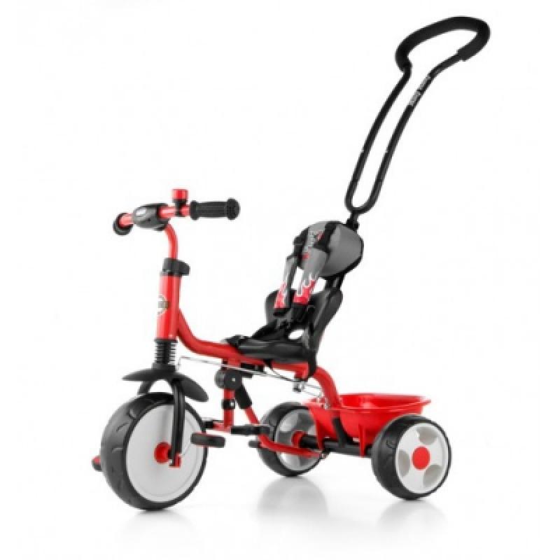 Велосипед 3х кол. M.Mally Boby 2015 с подножкой (red)
