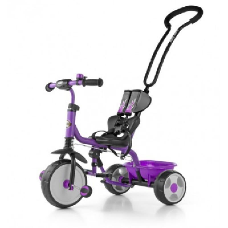 Велосипед 3х кол. M.Mally Boby 2015 с подножкой (violet)