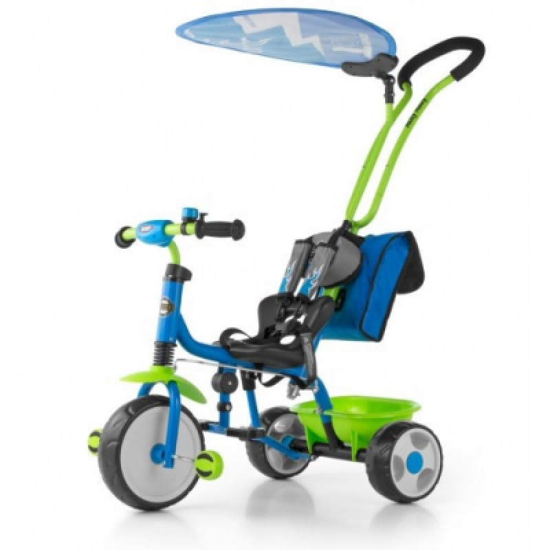 Велосипед 3х кол. M.Mally Boby Deluxe 2015 с подножкой (blue-green)