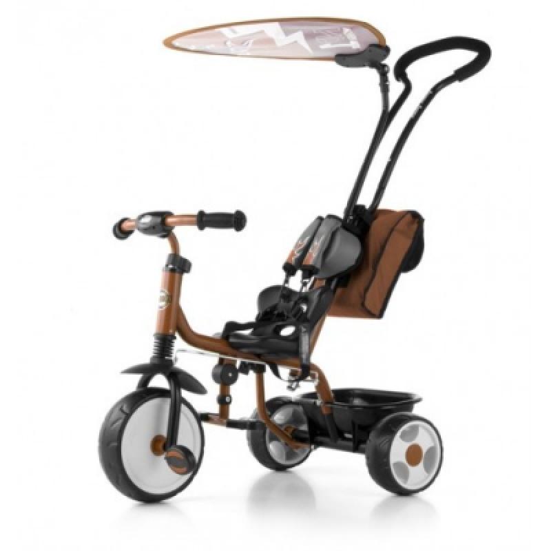Велосипед 3х кол. M.Mally Boby Deluxe 2015 с подножкой (brown)