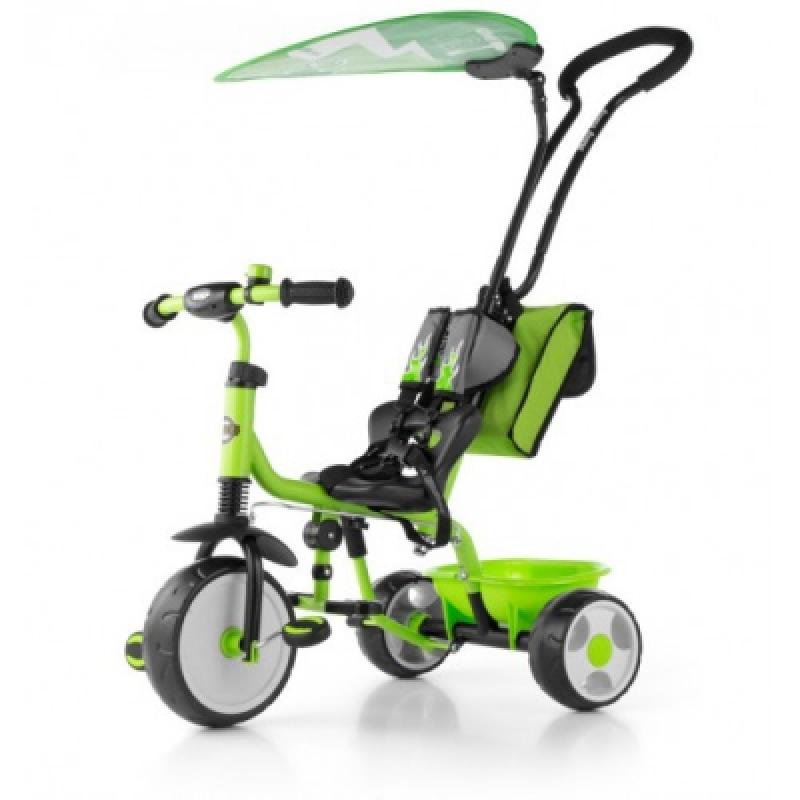Велосипед 3х кол. M.Mally Boby Deluxe 2015 с подножкой (green)