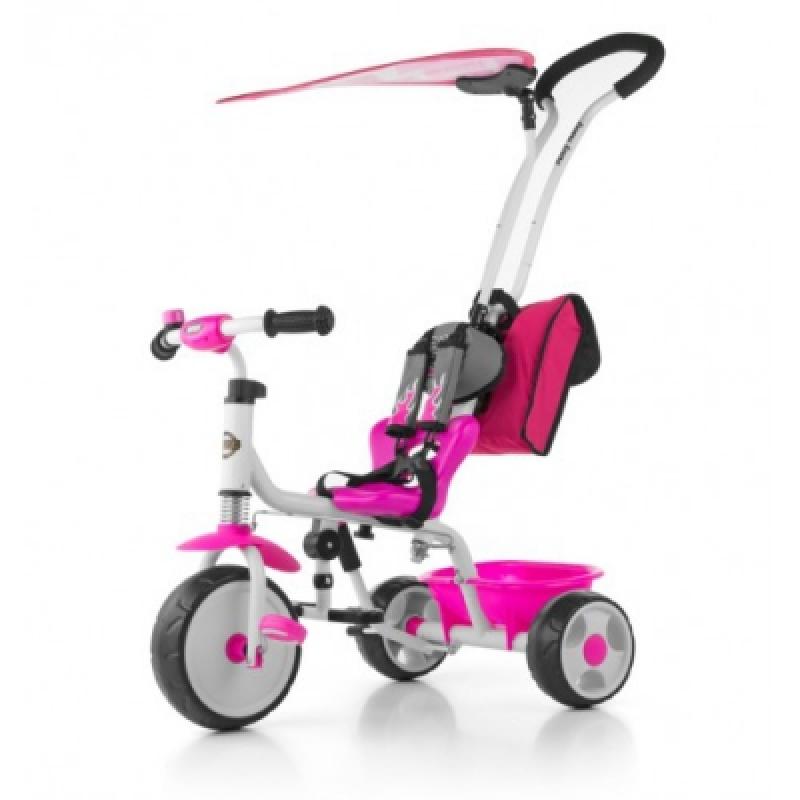 Велосипед 3х кол. M.Mally Boby Deluxe 2015 с подножкой (pink)