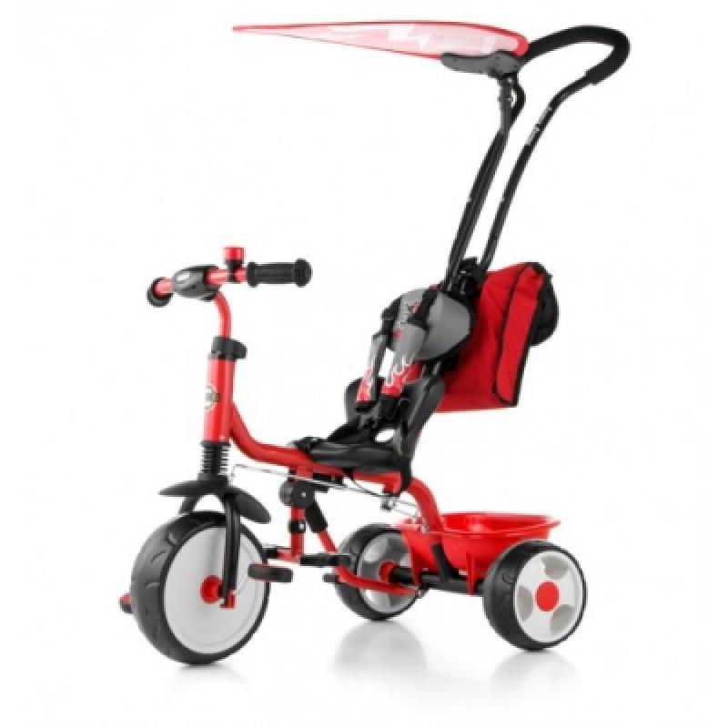 Велосипед 3х кол. M.Mally Boby Deluxe 2015 с подножкой (red)