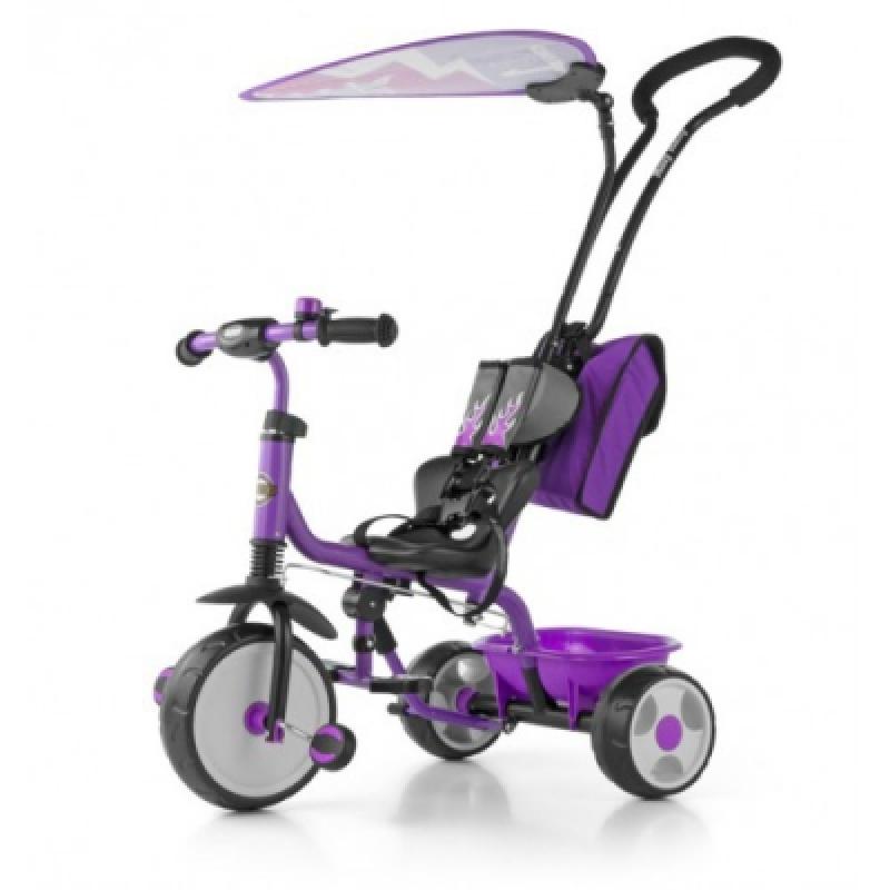 Велосипед 3х кол. M.Mally Boby Deluxe 2015 с подножкой (violet)