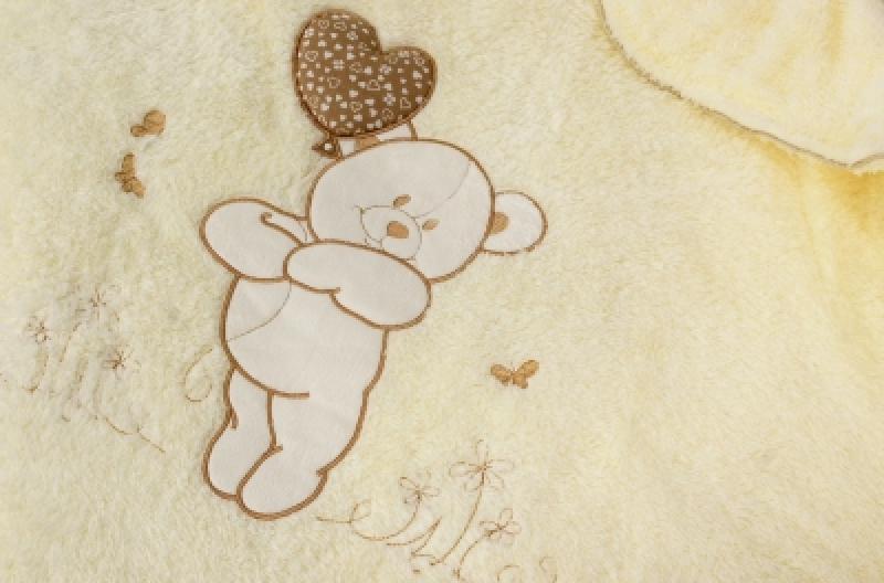 """Плед теплый Veres """"Sweet Bear beige"""""""