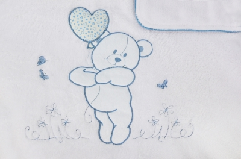 """Плед теплый Veres """"Sweet Bear blue"""""""