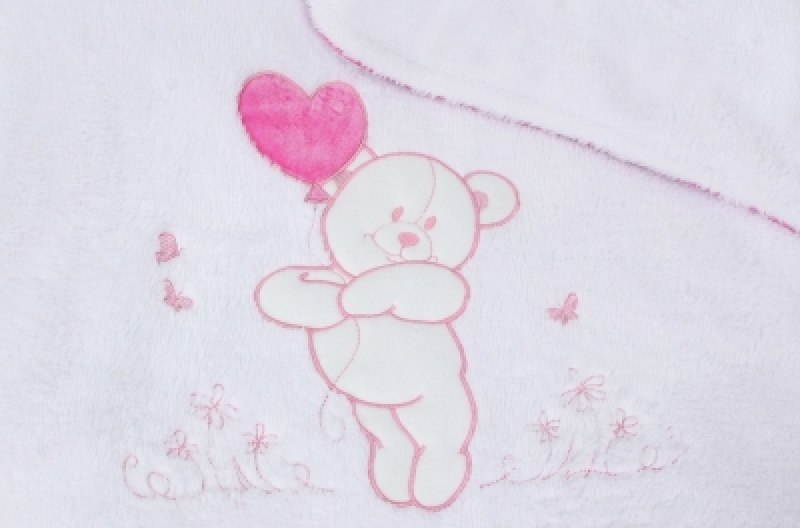 """Плед теплый Veres """"Sweet Bear pink"""""""