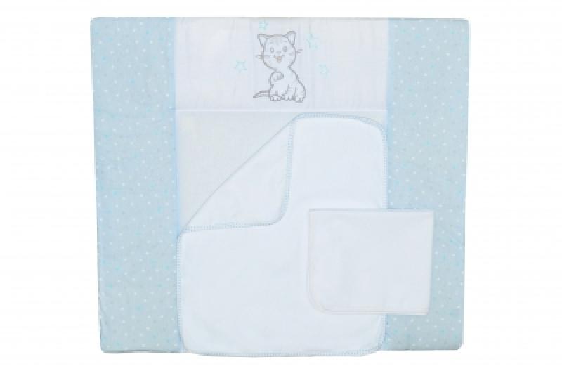 "Пеленальный матрас (72*80) ""Little Cat blue"""