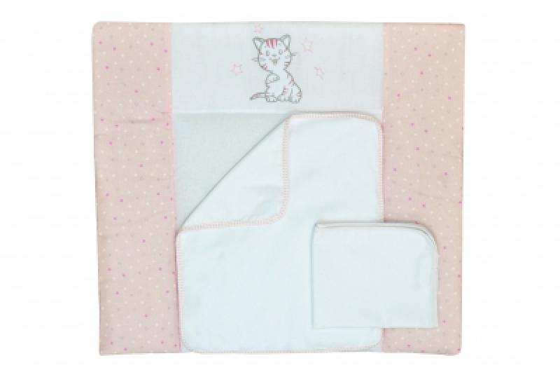 "Пеленальный матрас (72*80) ""Little Cat pink"""