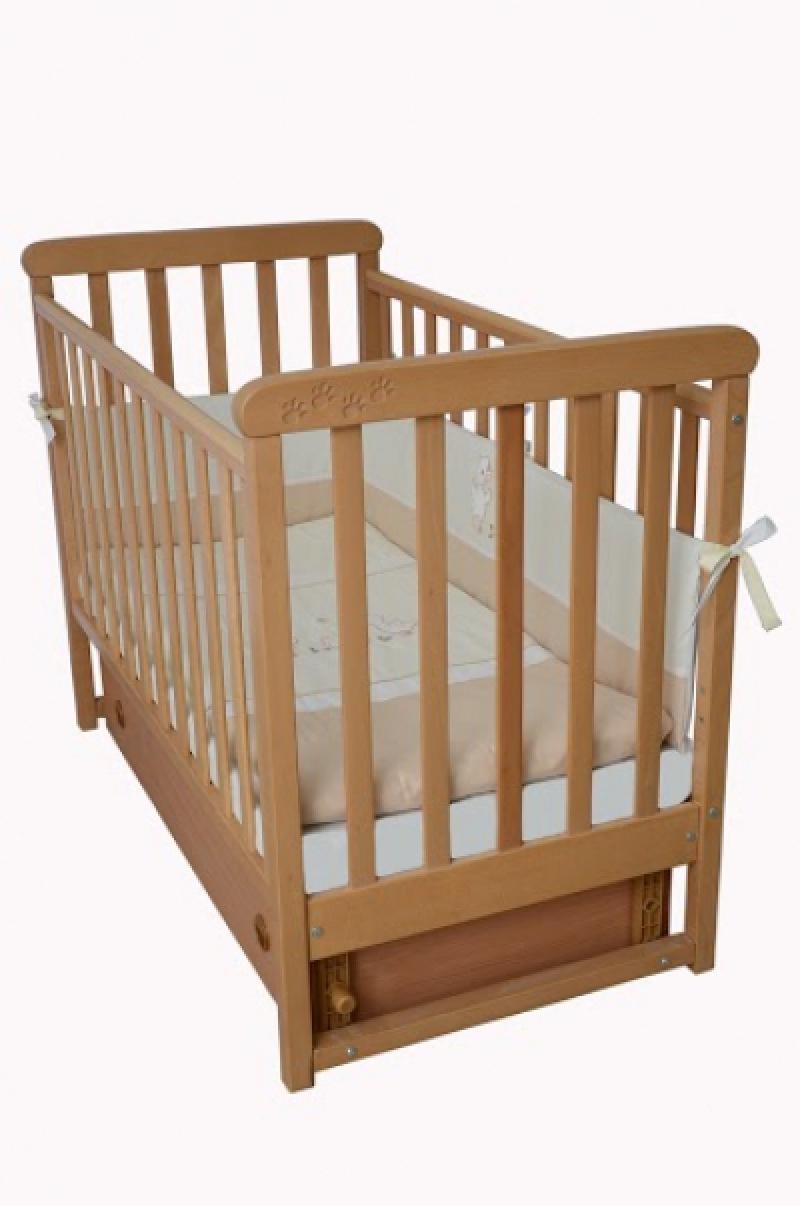 Кроватка детская ЛД 12, резьба лапки, бук