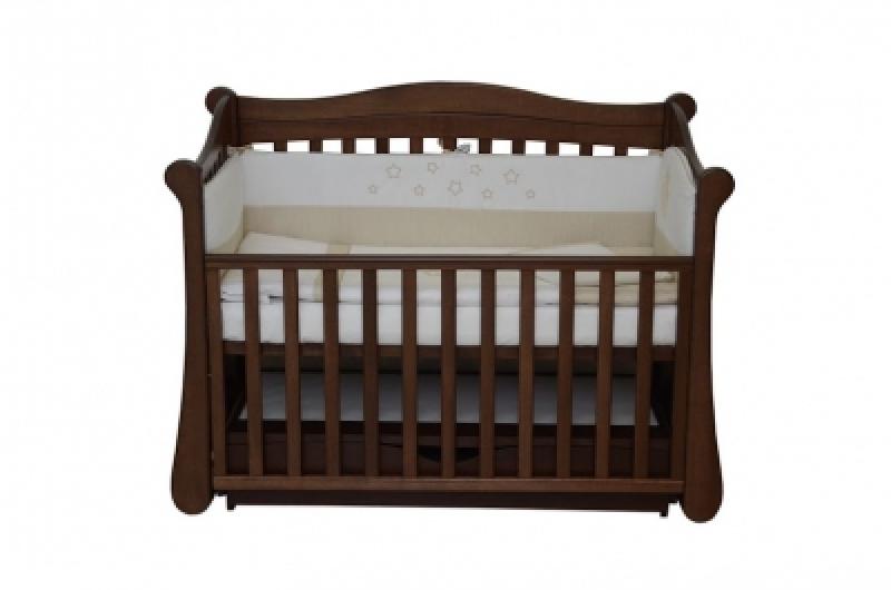 Кроватка детская ЛД 18, орех
