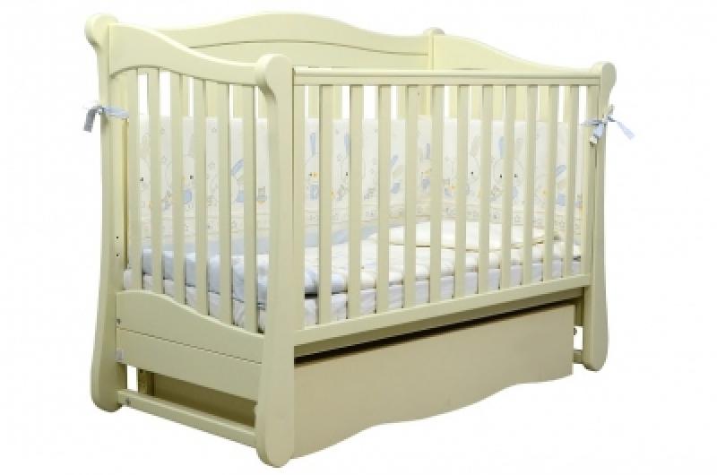 Кроватка детская ЛД 18, слоновая кость