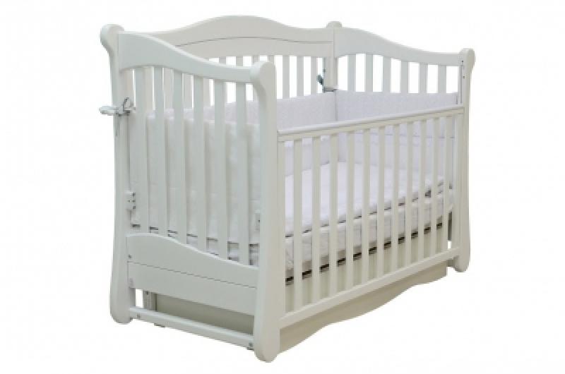 Кроватка детская ЛД 18, белая
