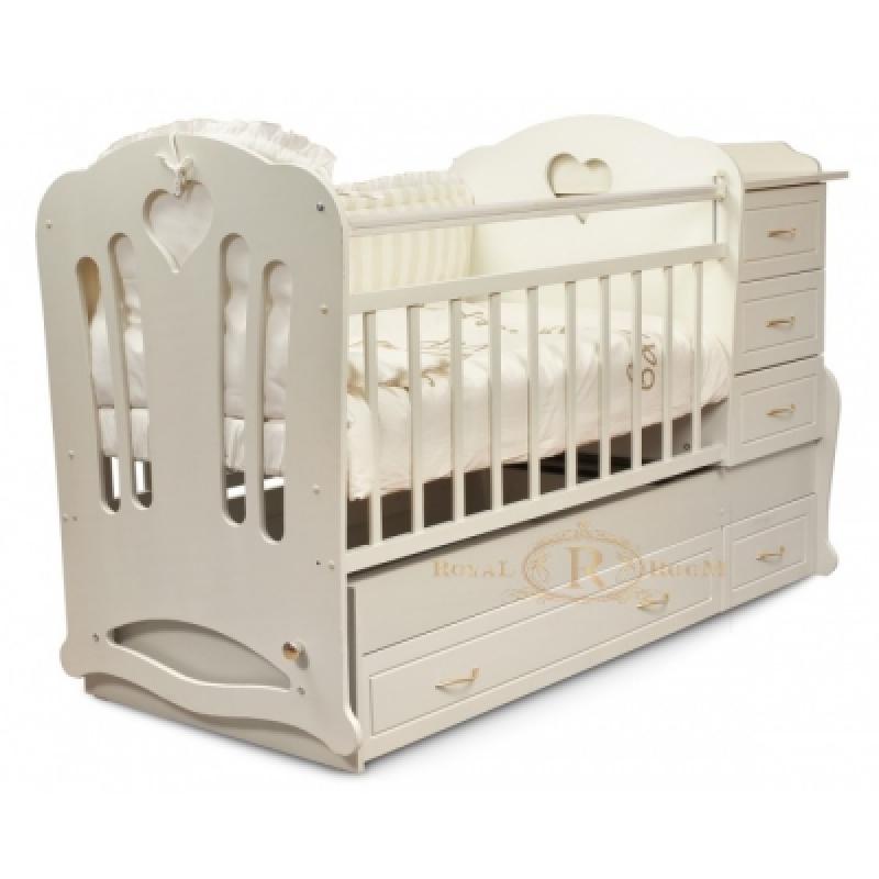 Детская кроватка трансформер 3в1 ROYALROOM ВИВАЛЬДИ