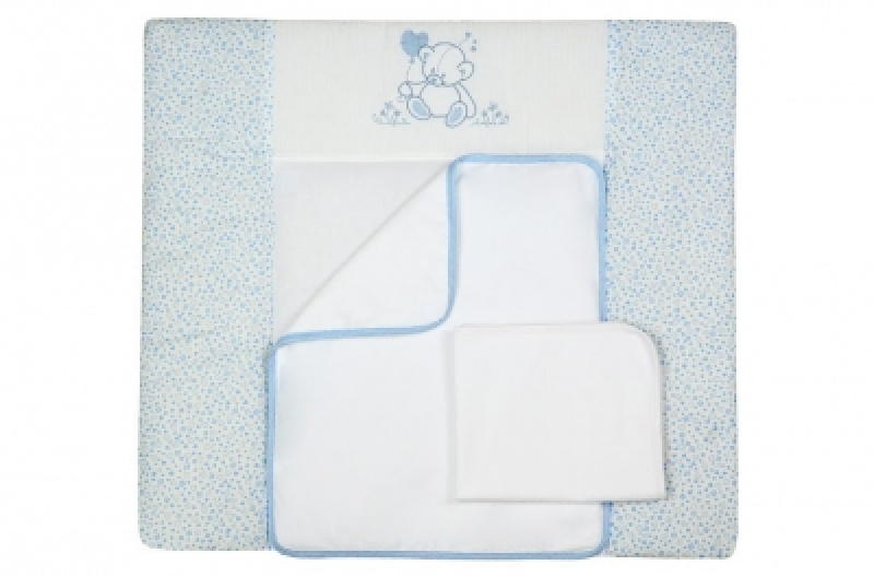 """Пеленальный матрас (50*70) Veres """"Sweet Bear blue"""""""