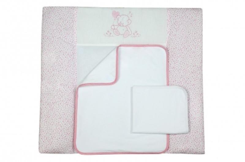 """Пеленальный матрас (50*70) Veres """"Sweet Bear pink"""""""