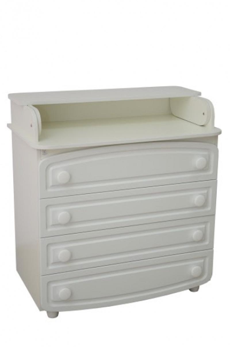 Комод-пеленатор, 900х900х510, ДСП/МДФ, белый (филенка)