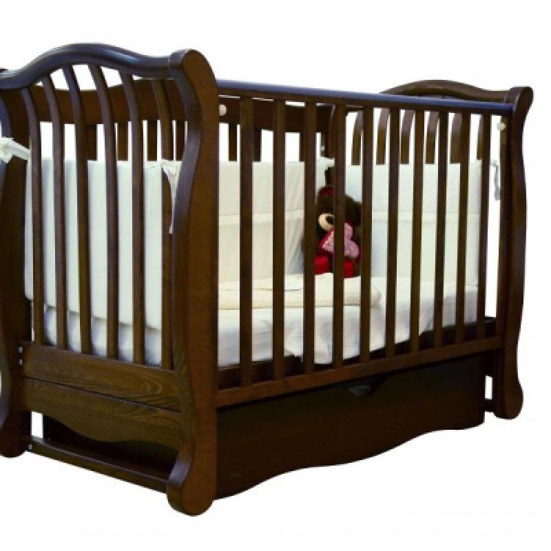 Кроватка детская ЛД 19, орех