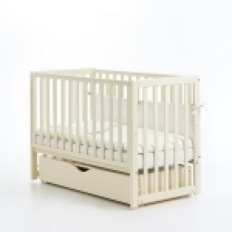 Кроватка детская ЛД 13, слоновая кость