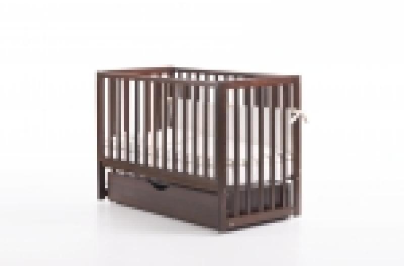 Кроватка детская ЛД 13, орех