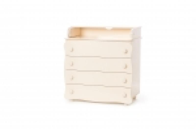 Комод-пеленатор 16, 900х900х510, ДСП/МДФ, слоновая кость