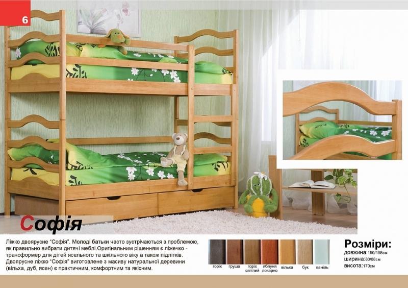 Кровать двухъярусная «София»
