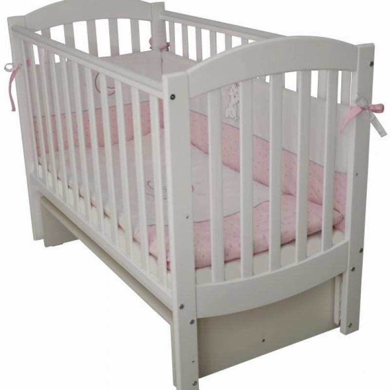 Кроватка детская ЛД 10, белый
