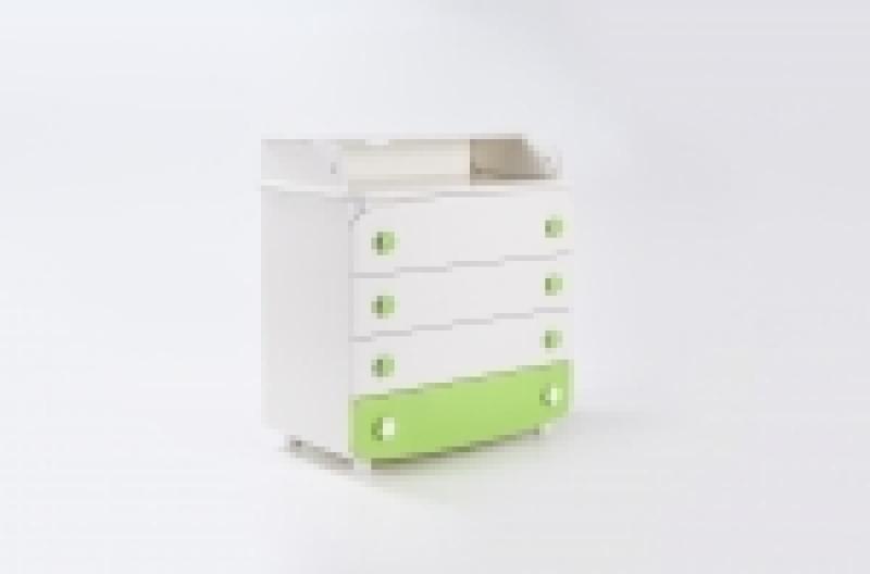 Комод-пеленатор, 900х900х510, ДСП, бело/зеленый