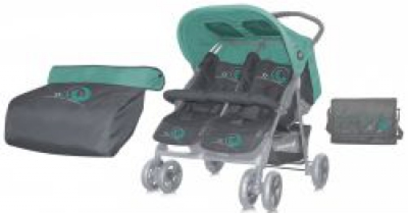 Коляска для двойни Bertoni TWIN (green&gray)